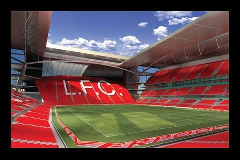 Liverpool FC new stadium view from Kop
